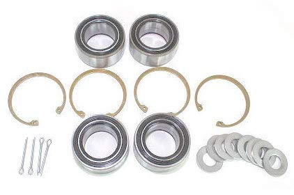 BossBearing All 4 Front and Rear Wheel Bearings Kit for Polaris RZR 4 XP 900 2012 2013