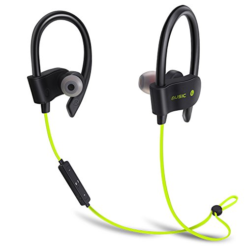 Price comparison product image Bluetooth Headset Wireless Headset -Microphone,  IPX7 Waterproof,  Wireless 4.1 Bluetooth Mount Earl,  HD Stereo Anti-Sweat Water Heater,  Fitness Exercise,  10 Hour Battery,  Noise Reduction Headphones