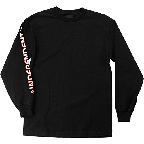 Independent Mens Bar Cross Regular Long Sleeve T-Shirt Black Medium