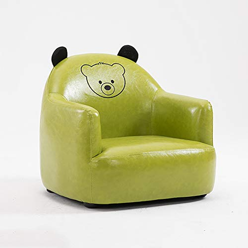 (WAYERTY Children's Armchair, Children Sofa Cartoon Boy and Girl Princess Furniture Cute Baby Small Couch Seat Mini Lazy Kid Chair-greenA)