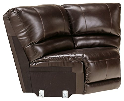 Signature Design by Ashley 4450077 Capote DuraBlend Collection Sectional Wedge, Chocolate - Sectional Wedge