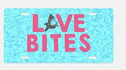Amazon.com: SHARK Decor bocados de amor frontal Placa de ...