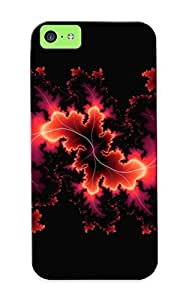 Storydnrmue Tpu Case For Iphone 5c With Fractal Leaves , Nice Case For Thanksgiving Day's Gift
