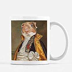"Guinea Pig, Pet Portrait Mug, Cute Animal Tea Mug, Big Ceramic Mug,""Lincoln"""