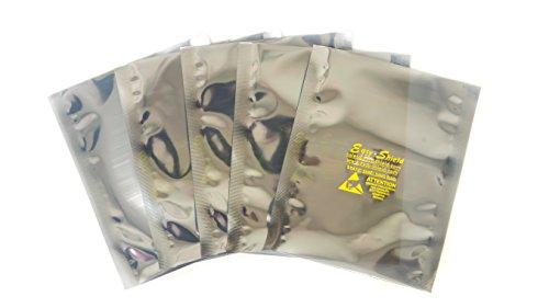 100 ESD Anti-Static Shielding Bags, 5''x8'' in , Open-Top, 3.1 mils by Easy-Shield