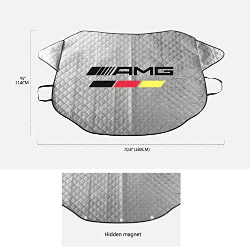 YIKA Magnetische Auto Windschutzscheibenabdeckung f/ür Eis und Schnee f/ür AMG Mercedes-Benz Hagel // 3 Magnete f/ür sicherste Montage und einfachste Installation wasserdicht