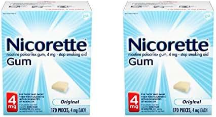 Nicorette Nicotine Gum To Stop Smoking 4mg, Original, 340 Count