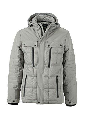 black Moda Di Jacket Alla Modernissimi Wintersport Materiali In Mix Giacca Men's Silver 6xPqaBq