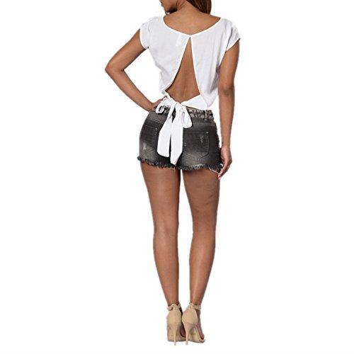 triturados Size Flacos Vaqueros Cortos Black XL Otprdirect los Pantalones Ajustados Pantalones Color de Black c6xC6S8PFq