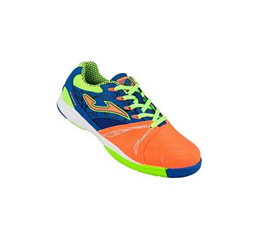 Joma Dribling JR 708 - Zapatillas de fútbol sala, Niño, Naranja / Azul / Verde, 37