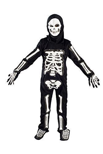 MONIKA FASHION WORLD Skeleton Costume for Boys Kids Light up Size M (5-7) L (6-9) (5-7) -