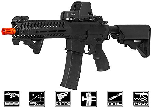 Lancer Tactical Elite Electric Recoil Multi Mission 10.5 RIS Carbine (MMC) AEG (Black/Polymer)