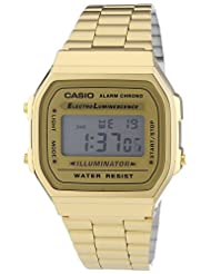 Casio Men's A168WG-9EF Gold Stainless-Steel Quartz Watch with Digital Dial