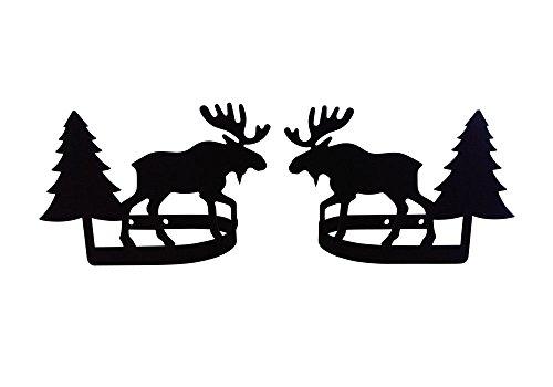 (Village Wrought Iron Moose & Pine - Curtain Tie Backs)