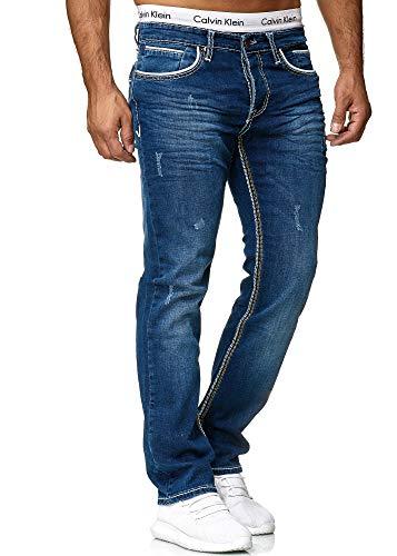 Jeans Hose Jeanshose Chino Denim Slim Fit Used Design Herren
