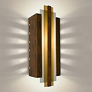 product image for A19 Empire Wall Sconce, 4.5-Inch by 6.5-Inch by 18-Inch, Butternut/Caramel