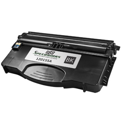 Speedy Inks - Remanufactured Lexmark 12015SA Black Laser Toner cartridge for use in E120n