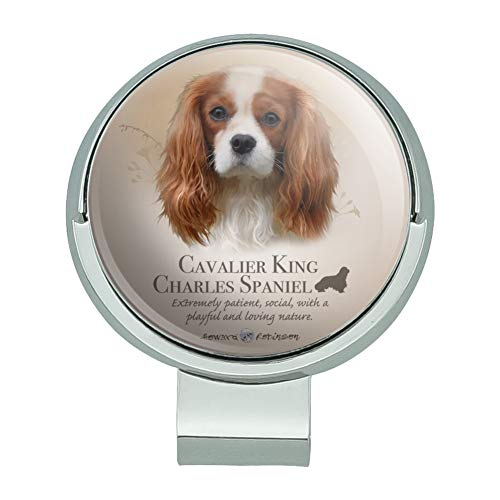 GRAPHICS & MORE Cavalier King Charles Spaniel Dog Breed Golf Hat Clip with Magnetic Ball Marker