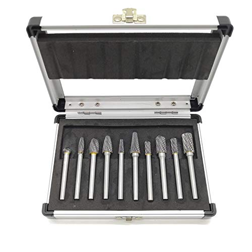 - 10Pcs Carbide Burr Set on 1/4