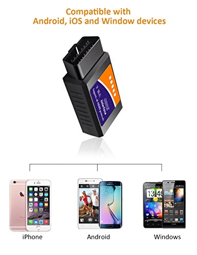 kungfuren OBD2 Scanner, [2018 NEW] Code Reader Car diagnostic Tool Compatible With IOS, Android & Windows Devices Connects Via WiFi For Cars by kungfuren (Image #3)