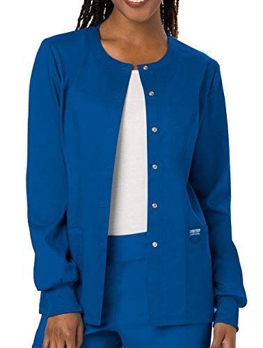 Cherokee Women's Snap Front Warm-up Jacket, Royal, Small ()