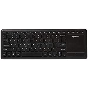 AmazonBasics Wireless Keyboard with Touchpad for Smart TV - US Layout (QWERTY)