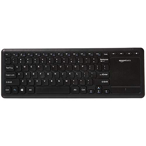 AmazonBasics Wireless Keyboard with Touchpad for Smart TV - US Layout (QWERTY) (Trackpad Keyboard Apple Connect)