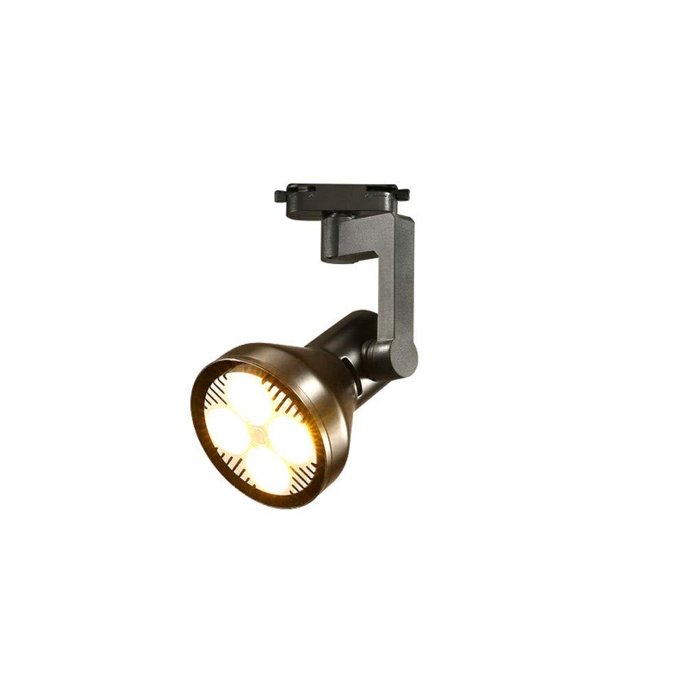 Mei Xu Track Light - Scandinavian Spotlights - Black/White - 20W/30W/40W - Single Track Lamp (Color : Black, Size : 30w)