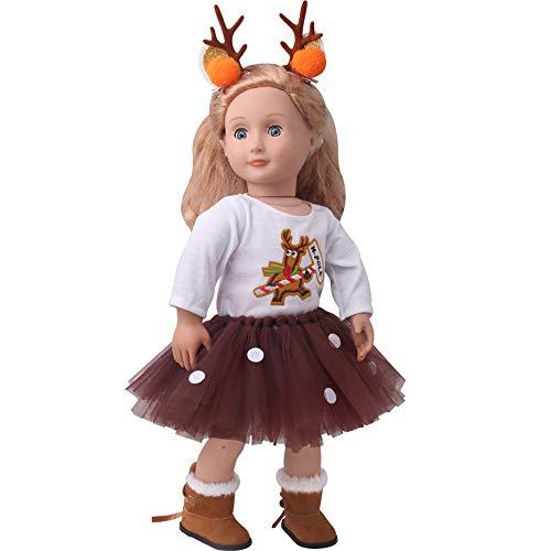 reindeer doll clothing set