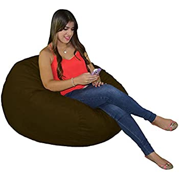 Bean Bag Chair 3 Foot Small Cozy Foam Filled Beanbag Protective Liner And Removable Microfiber Cover