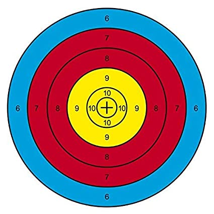Archery Targets Paper Targets 20Pcs 16x16inch Bow and Arrow Targets for Shooting Archery Accessories Ideal for Match and Daily Practice Use Outdoor
