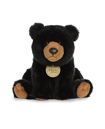 (Aurora World Miyoni Black Bear Plush, Black,)