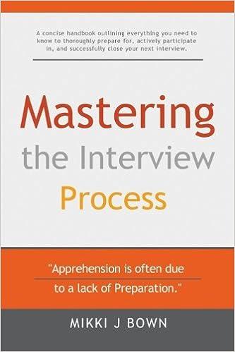 Mastering the Interview Process: Mikki J Bown: 9781517313586: Amazon