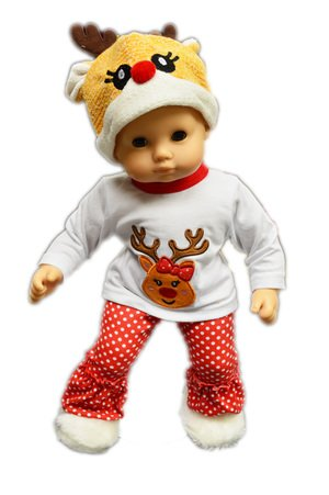 My Brittany's Reindeer Pj and Lounge Set for American Girl Dolls Bitty Baby