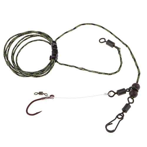 Ameglia Strong Line Group Hand Tied Carp Fishing Hair Rigs with Swivels Hook Link (Size - ()