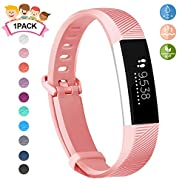 """JOMOQ Replacement Bands Compatible for Ace (Only for Kids), Soft Silicone Sport Wrist Strap Waterproof Replacement with Secure Metal Buckle for Ace/Alta HR Activity Tracker Boy Girl (5.0""""-7.0"""")"""