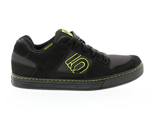 Five Ten Freerider Men's Flat Pedal Shoe: Black Slime 10