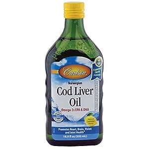 Carlson Laboratories Norwegian Cod Liver Oil, Lemon, 500 ml