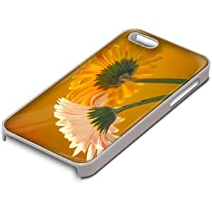 Flores 10025, Flor Amarilla, Custom Design Blanco PC Ultradelgado Caso Duro Carcasa Funda Protección Tapa Hard Case Cover con Diseño Colorido para Apple iPhone 5 5S.
