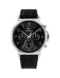 Tommy Hilfiger 1710381 - Reloj de pulsera (piel), color negro
