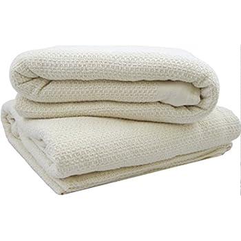 Amazoncom glo Organic US Made Waffle Blanket FullQueen
