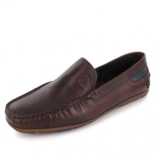 bugatti 331-26260-1100-6100 - Mocasines de Piel Lisa para hombre marrón oscuro