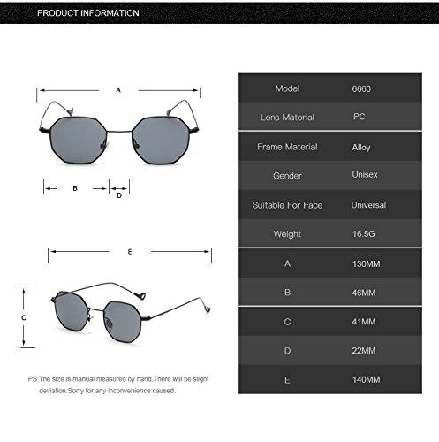 soleil Design femmes hexagonale en Steampunk Aprigy Clear métal Hommes de Polygon vintage Eyewear objectif de Black Marque Lunettes luxe Cadre Forme soleil de clair Lunettes TH17H