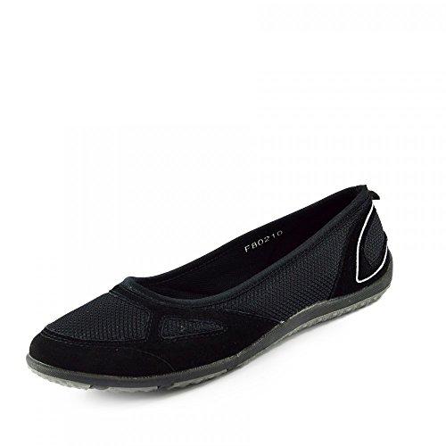 Jane Mary Black de Chaussures pour Kick Chaussures Ballerina marche Comfort Shoes plates F80210 femme p08xC0q
