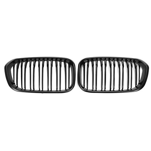 Viviance Pair Gloss Black Front Car Grille For BMW F20 F21 1 Series 2011-2014