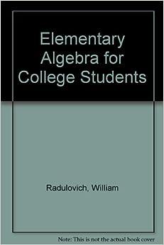 elementary algebra for college students pdf