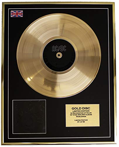 AC/DC/Cd Gold Disc Record Limited Edition/Black ICE ()