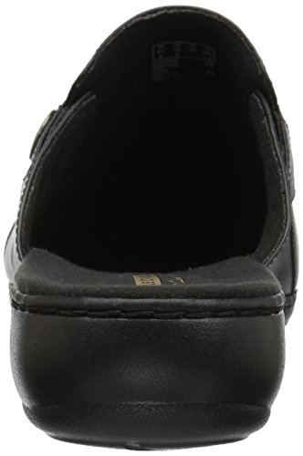 CLARKS Women's Clog Leather Carly Leisa Black wUwqFpT