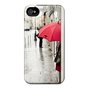Iphone Case - Tpu Case Protective For Iphone 4/4s- Red Umbrella