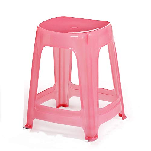 LiChenYao Plastic Stool Home Stool Stool Bench Stool Stool Dining Table Stall Barbecue Stool Outdoor Portable Stool (Color : -